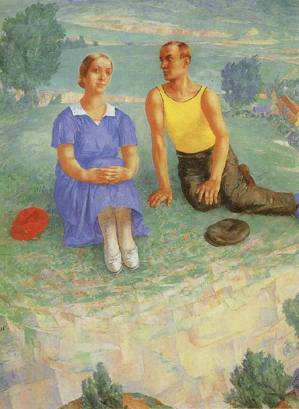 Kuzma Petrov-Vodkin Spring oil painting picture