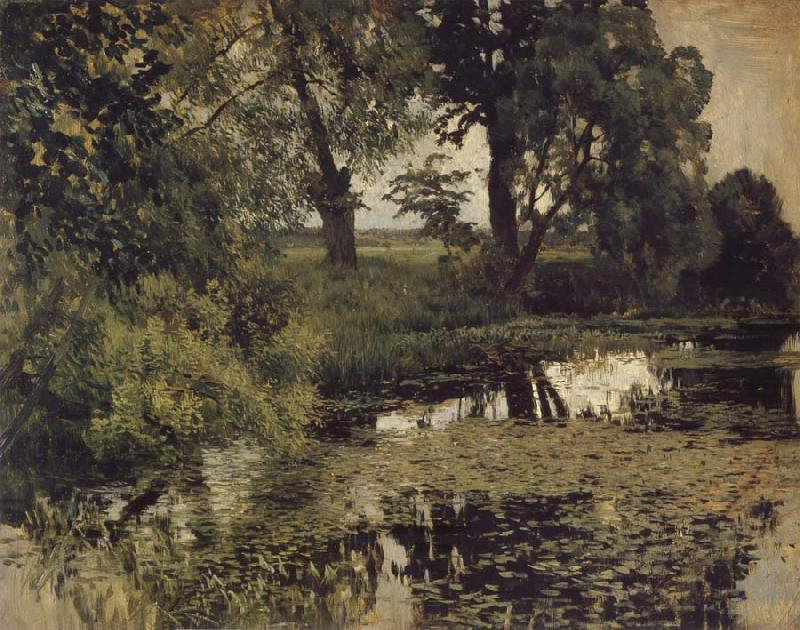 Levitan, Isaak Jungly Pond oil painting picture