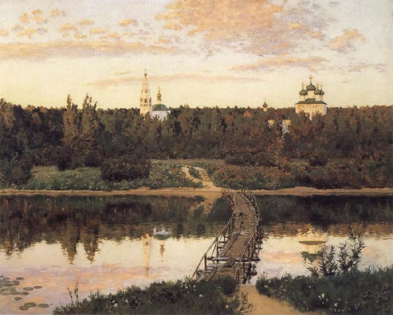 Levitan, Isaak The noiseless closter oil painting picture