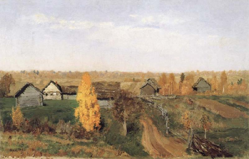Levitan, Isaak Golden Autumn-village and small town oil painting picture