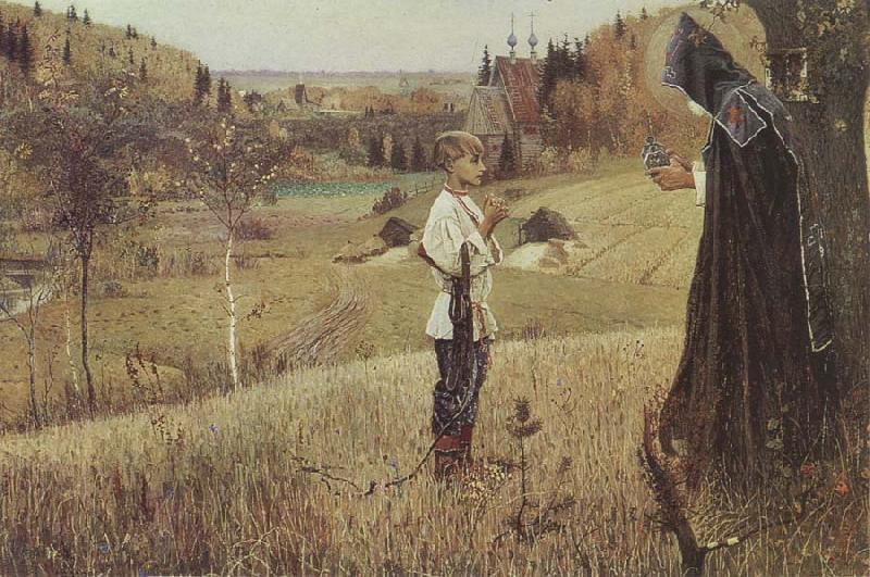 Mikhail Nesterov The Vision of the Boy Bartholomew oil painting picture