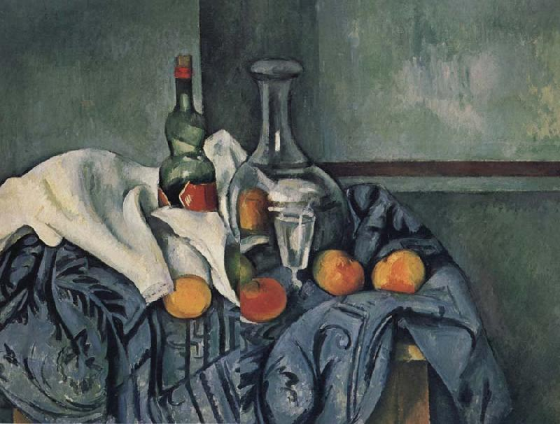 Paul Cezanne Nature mort a la Bouteille de Peppermint oil painting picture