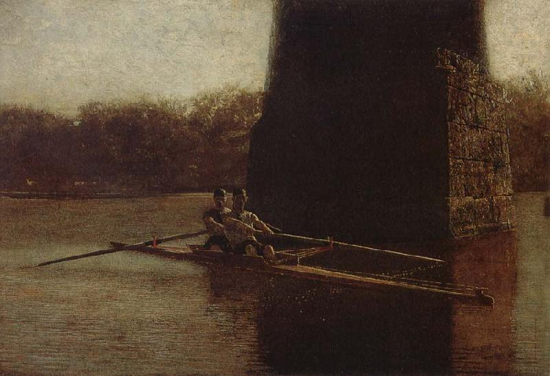 Thomas Eakins Two Person Dinghy oil painting image