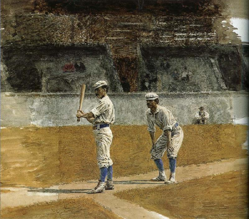 Thomas Eakins The Study of Baseball oil painting image