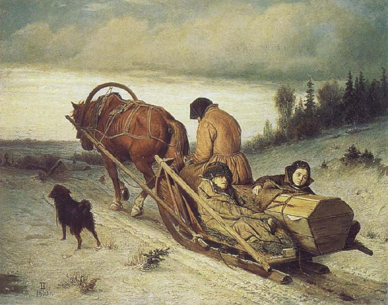 Vasily Perov The Last Farewell oil painting picture