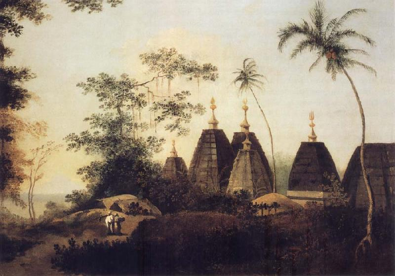 William Hodges A View of the Pagodas at Deoghur oil painting image
