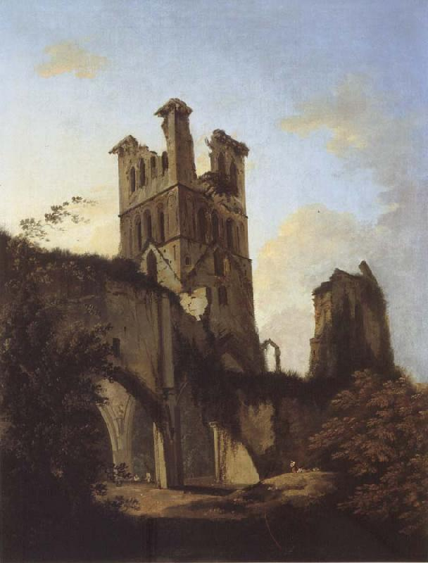 unknow artist Ruins of Llanthony Abbey oil painting picture