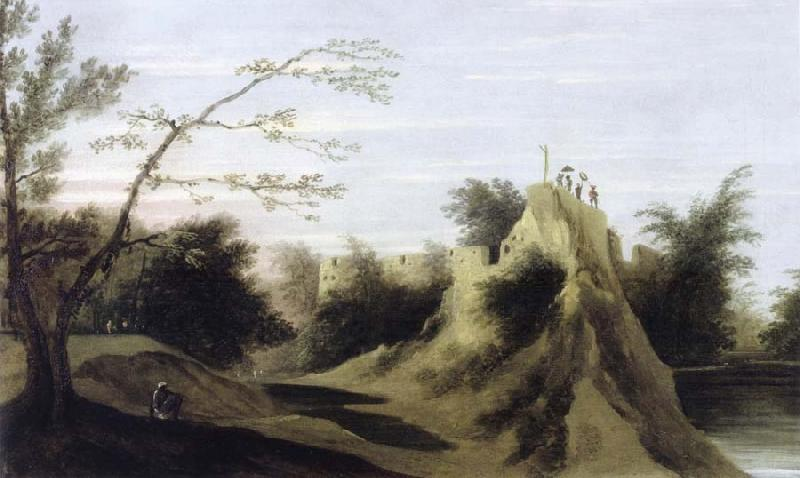 unknow artist View of the Fort of Pateeta oil painting picture