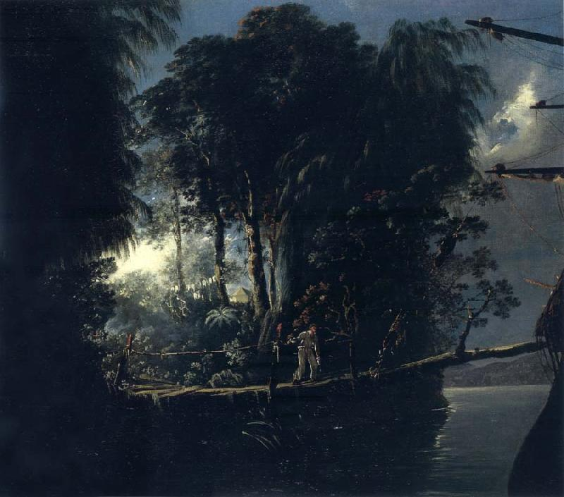 unknow artist View of Pickersgill Harbour,Dusky Bay Sound,New Zealand,April 1773 oil painting image