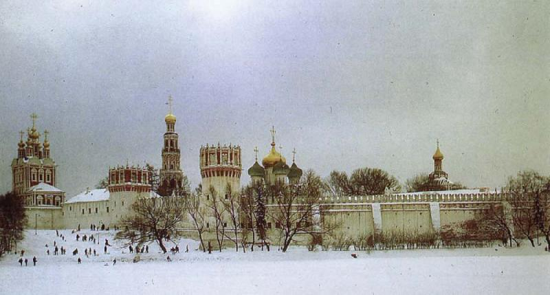 unknow artist The Novodevichy Monastery oil painting picture