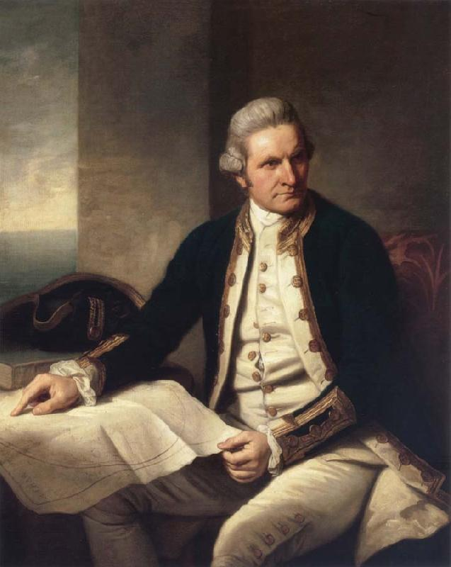unknow artist Captain James Cook oil painting picture