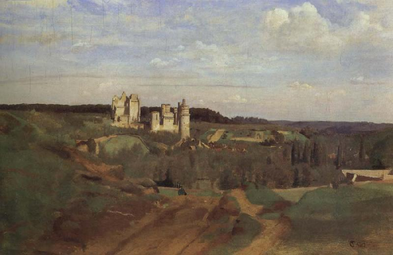 Corot Camille The castle of pierrefonds oil painting image