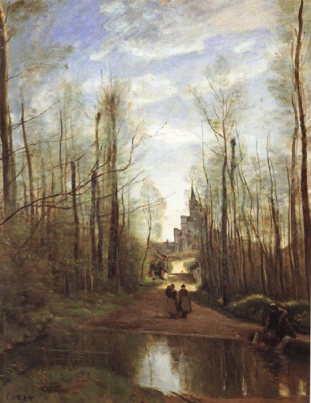 Corot Camille The church of Marissel oil painting image