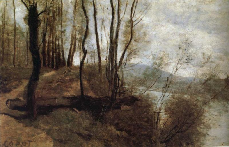 Corot Camille Path on the Rlo oil painting image