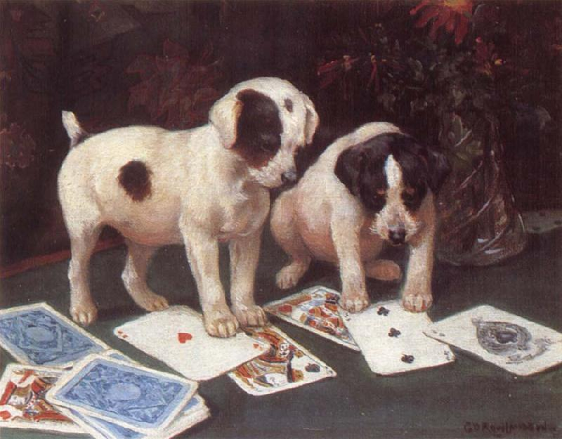George Rowlandson Poker oil painting image