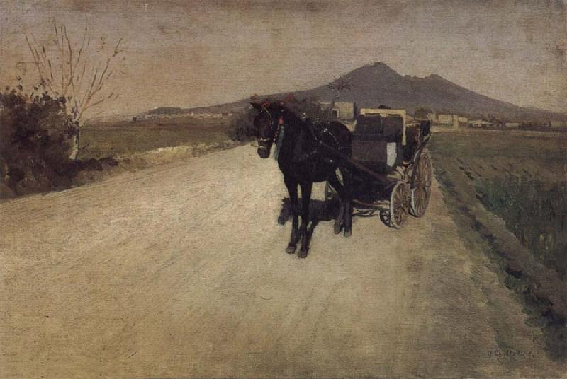 Gustave Caillebotte Road oil painting image