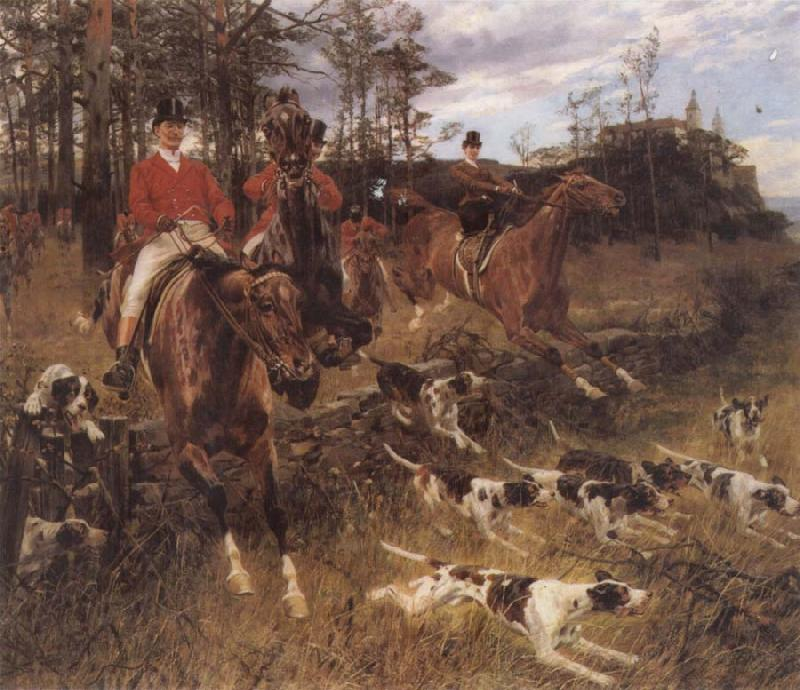 Hans Schmidt The Morning Hunt oil painting image