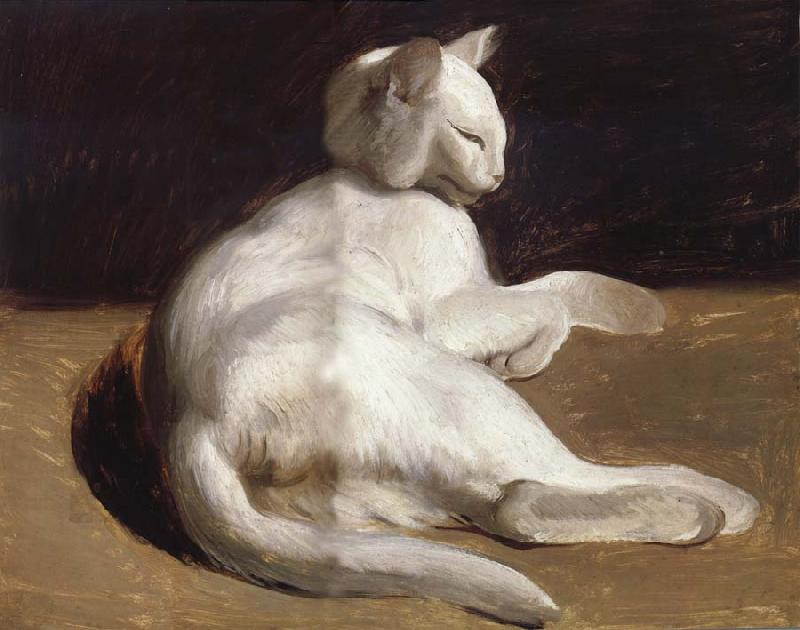 Theodore Gericault The White Cat oil painting image