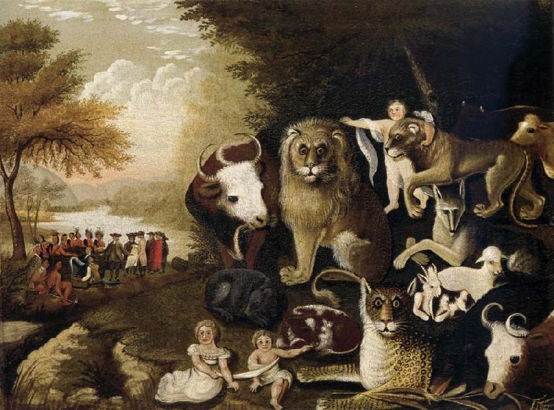 Edward Hicks The Peaceable Kingdom Sweden oil painting art