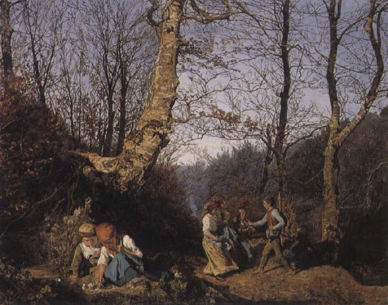 Ferdinand Georg Waldmuller Early Spring in the Vienna Woods oil painting picture