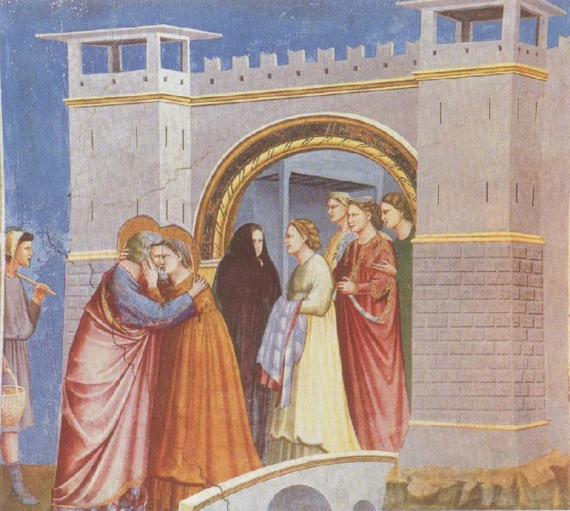 GIOTTO di Bondone Meeting at the Golden Gate oil painting picture