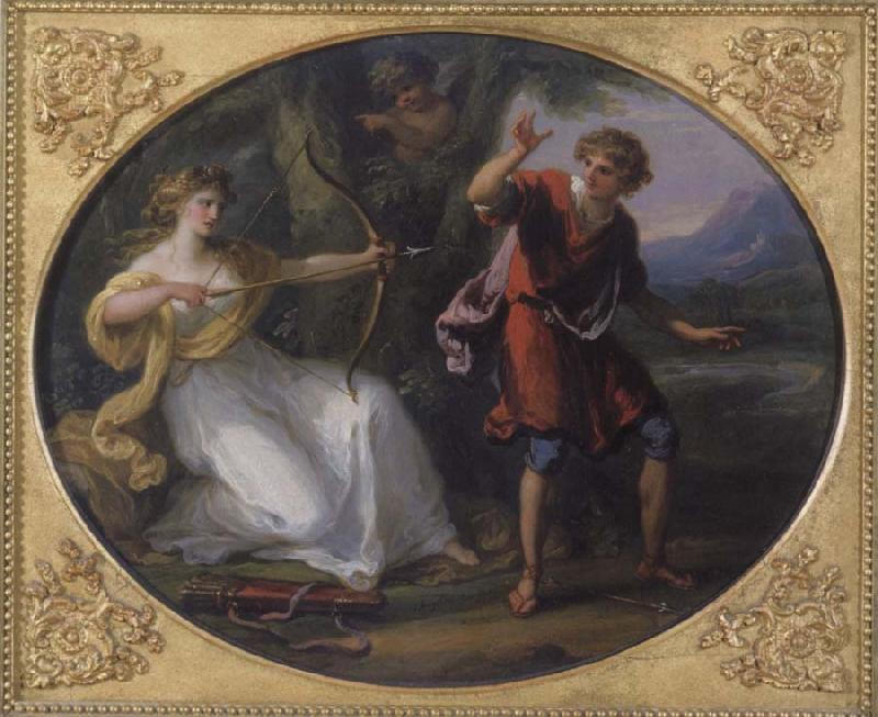 Angelica Kauffmann Nymphe und Jungling oil painting image
