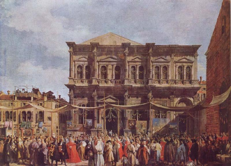 Canaletto The Feast Day of St Roch oil painting image