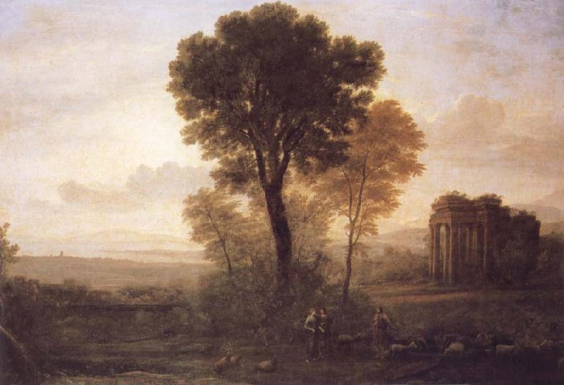 Claude Lorrain Landscape with Jacob,Rachel and Leah at the Well oil painting image