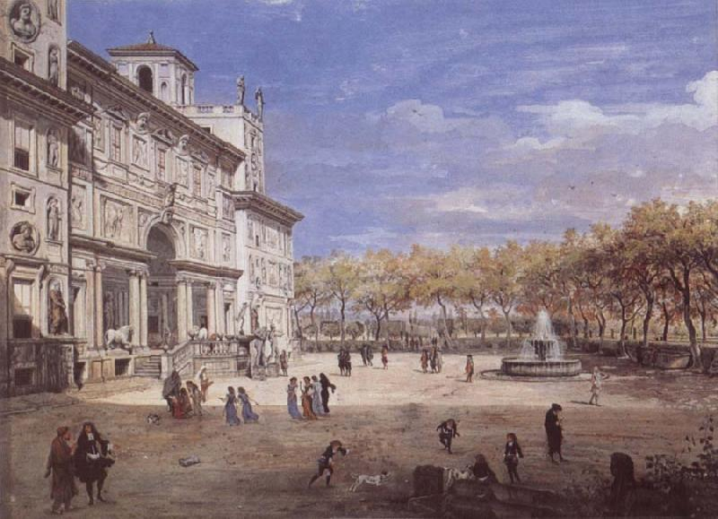 Gaspar Van Wittel The Villa Medici in Rome oil painting image