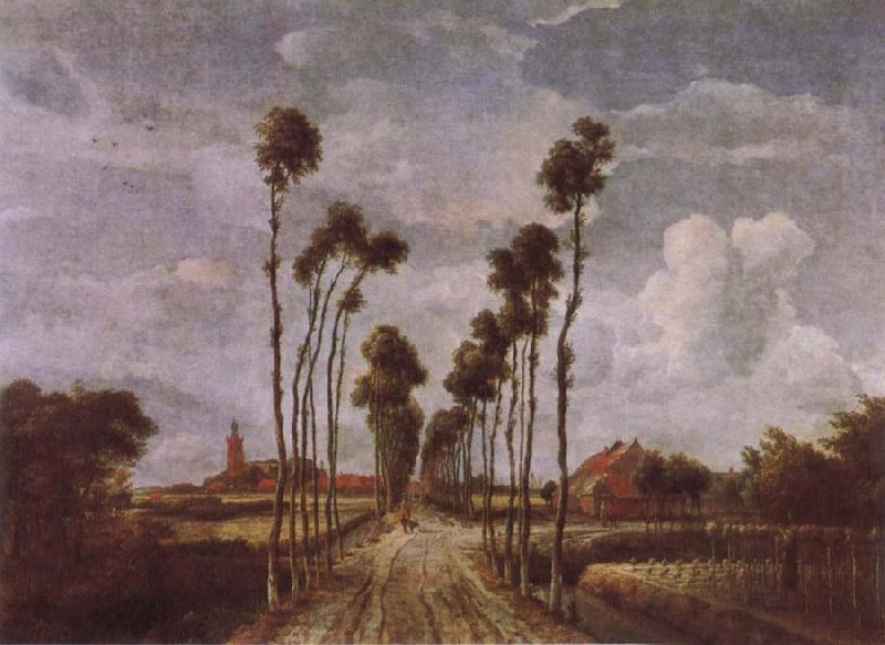 Meindert Hobbema The Avenue at Middlehamis oil painting image