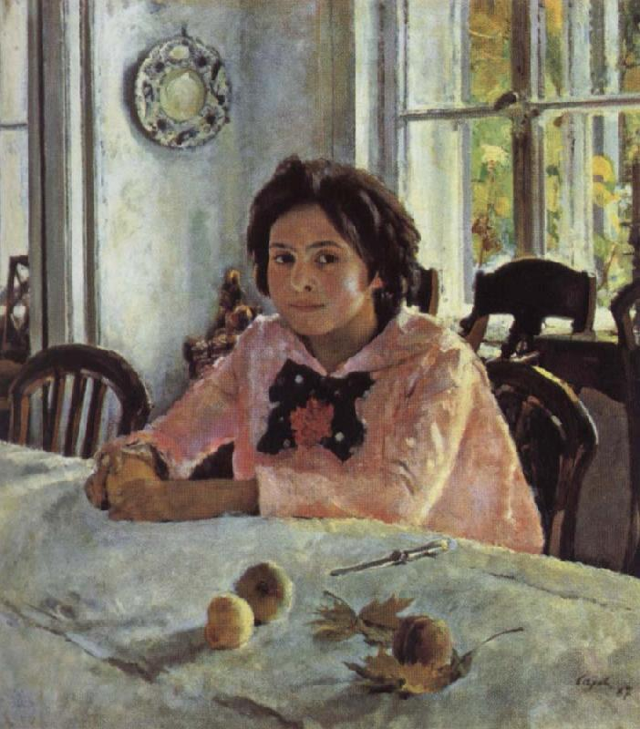 Valentin Serov Girl awith Peaches oil painting picture