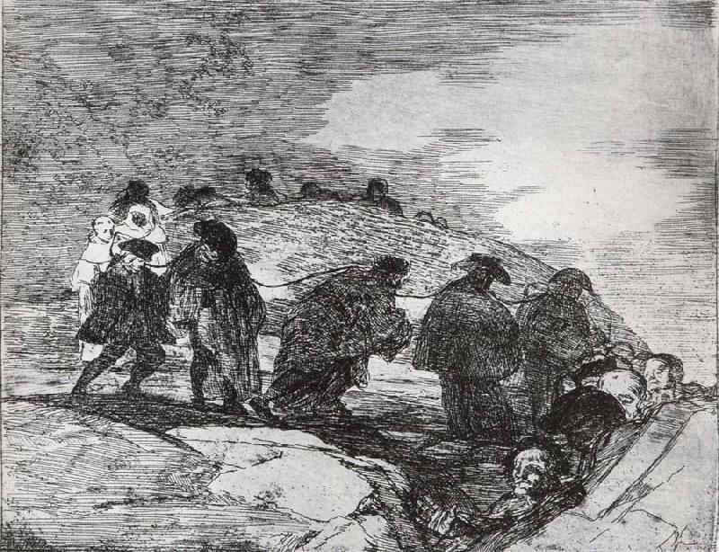 Francisco Goya No saben el camino oil painting image