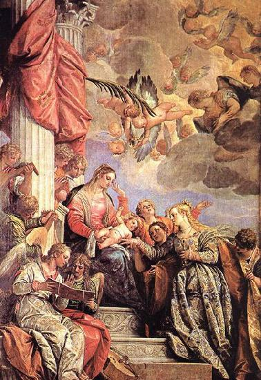 Paolo  Veronese The Marriage of St Catherine oil painting image