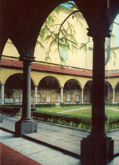 ANGELICO  Fra View of the Convent of San Marco oil painting image