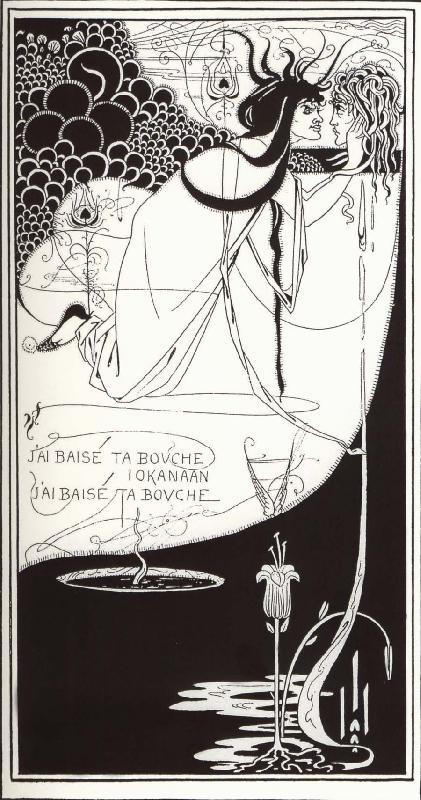 Aubrey Beardsley I have kissed your mouth lokanaan oil painting image