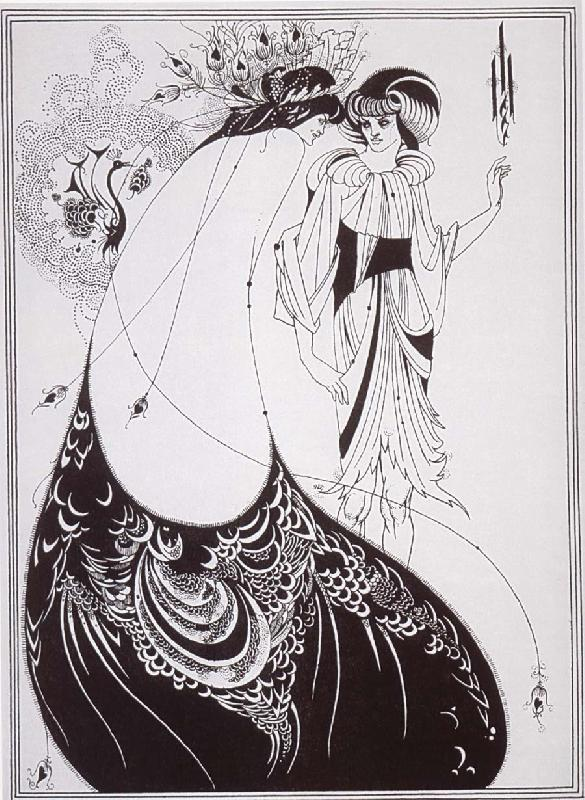 Aubrey Beardsley The Peacock Sirt oil painting image