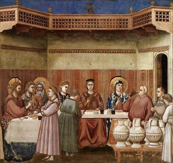 GIOTTO di Bondone Marriage at Cana oil painting image