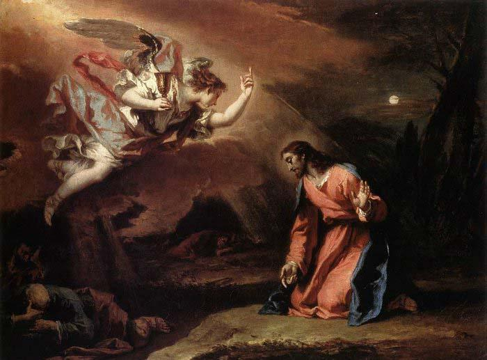 RICCI, Sebastiano Prayer in the Garden oil painting image