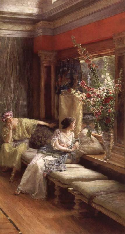 Sir Lawrence Alma-Tadema,OM.RA,RWS Vain Courtship oil painting picture