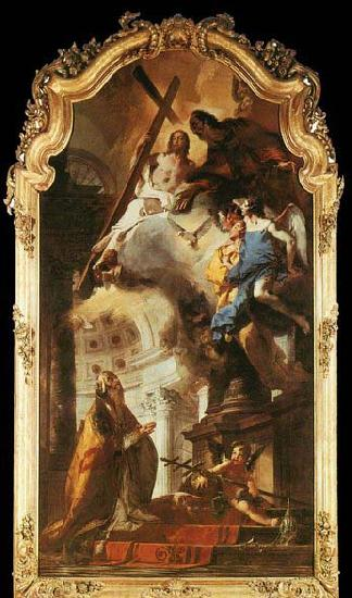 TIEPOLO, Giovanni Domenico Pope St Clement Adoring the Trinity oil painting image