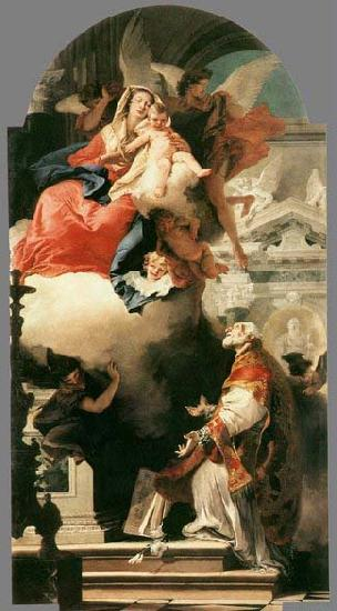 TIEPOLO, Giovanni Domenico The Virgin Appearing to St Philip Neri 1740 oil painting image