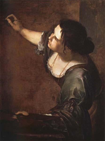 Artemisia gentileschi Self-Portrait as an Allegory of Painting oil painting image