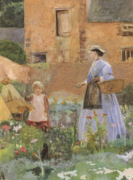 George John Pinwell,RWS In a Garden at Cookham (mk46) oil painting image