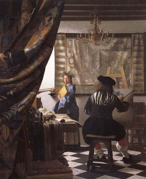 Jan Vermeer The Art of Painting oil painting image