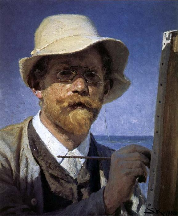 Peder Severin Kroyer Self-Portrait Sweden oil painting art