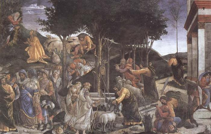 Sandro Botticelli Trials of Moses oil painting image