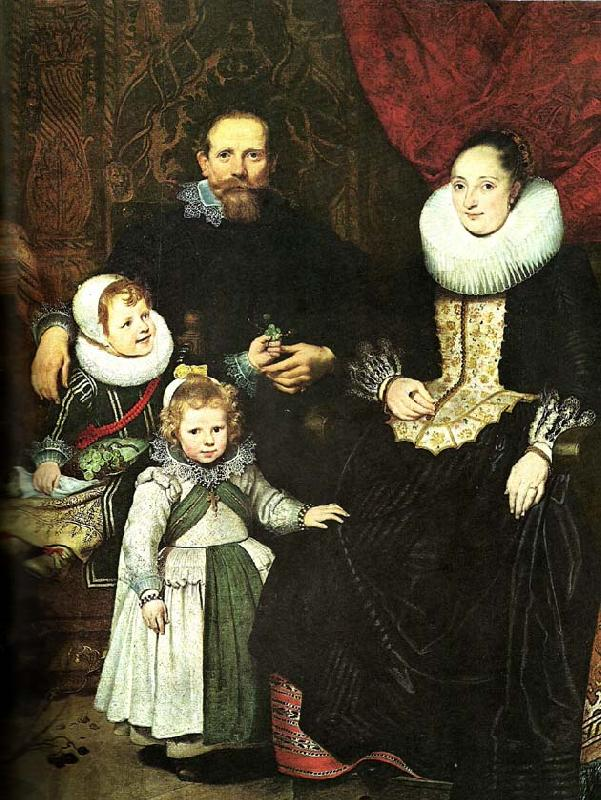 Cornelis de Vos the painter and his family oil painting picture