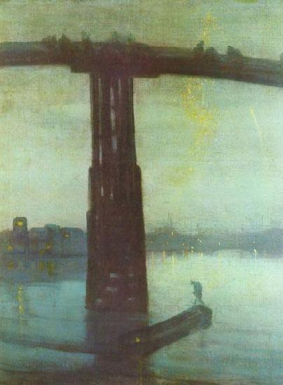 James Abbott Mcneill Whistler Nocturne oil painting picture