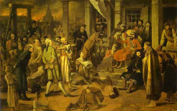 Vasily Perov Pugachev Judgement oil painting image