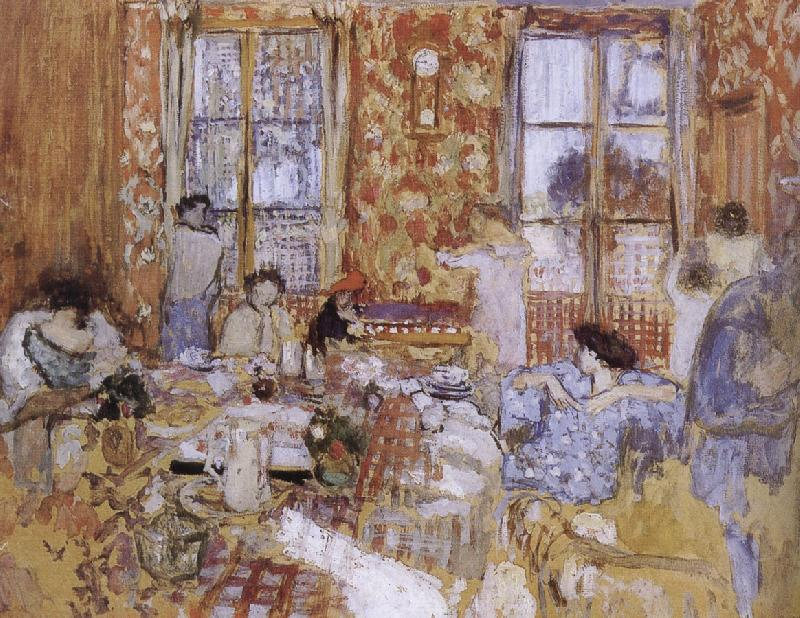 Edouard Vuillard Naked girls sitting on the sofa oil painting picture